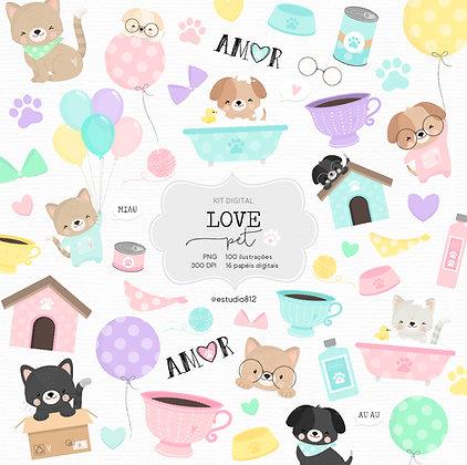 Kit Digital Love Pet