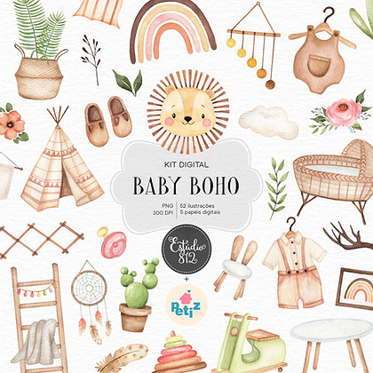 Kit Digital Baby Boho