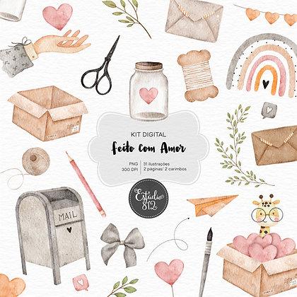 Kit Digital Feito com Amor