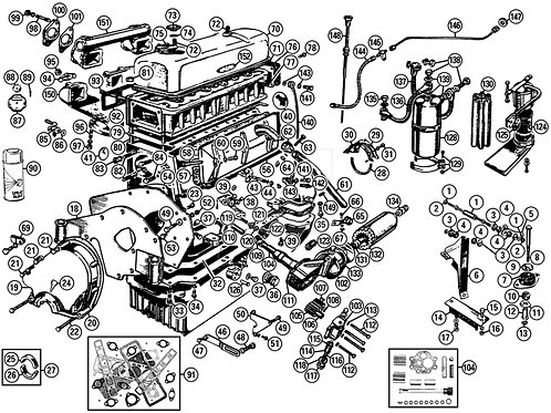MG T-Type Engine Parts
