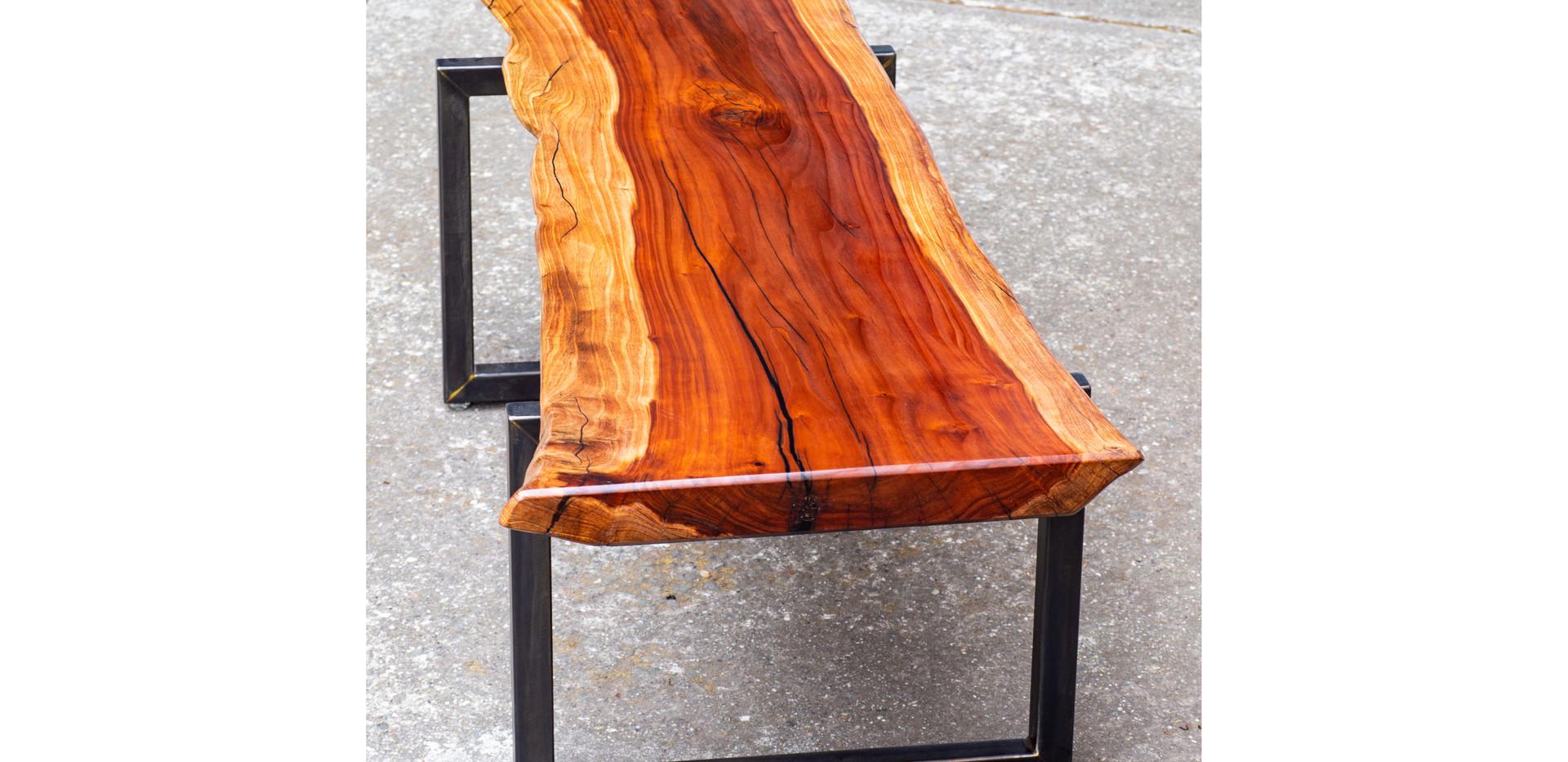 Redwood Slab Table