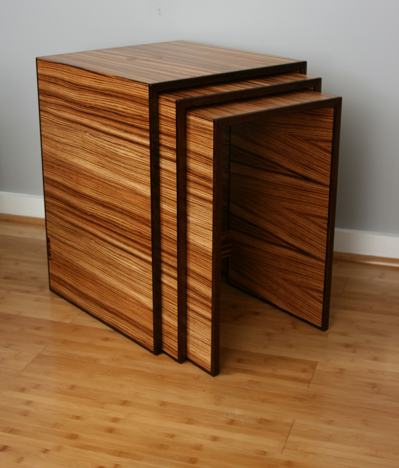 Zebrawood Nesting Tables