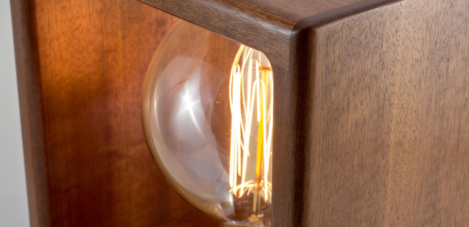 Makore Lamp