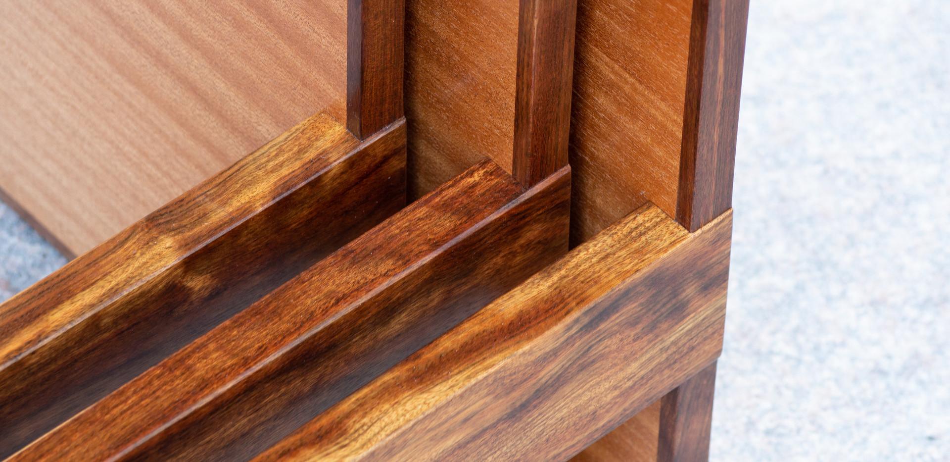 Sapele Nesting Tables Detail