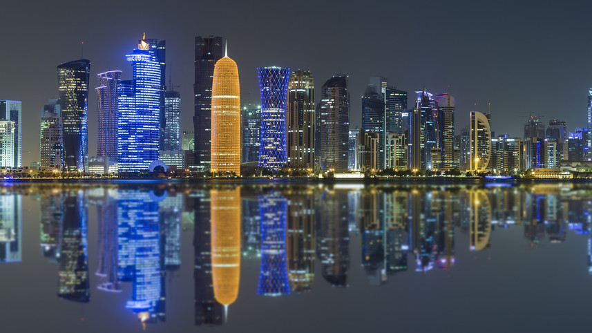 Doha Skyline panorama