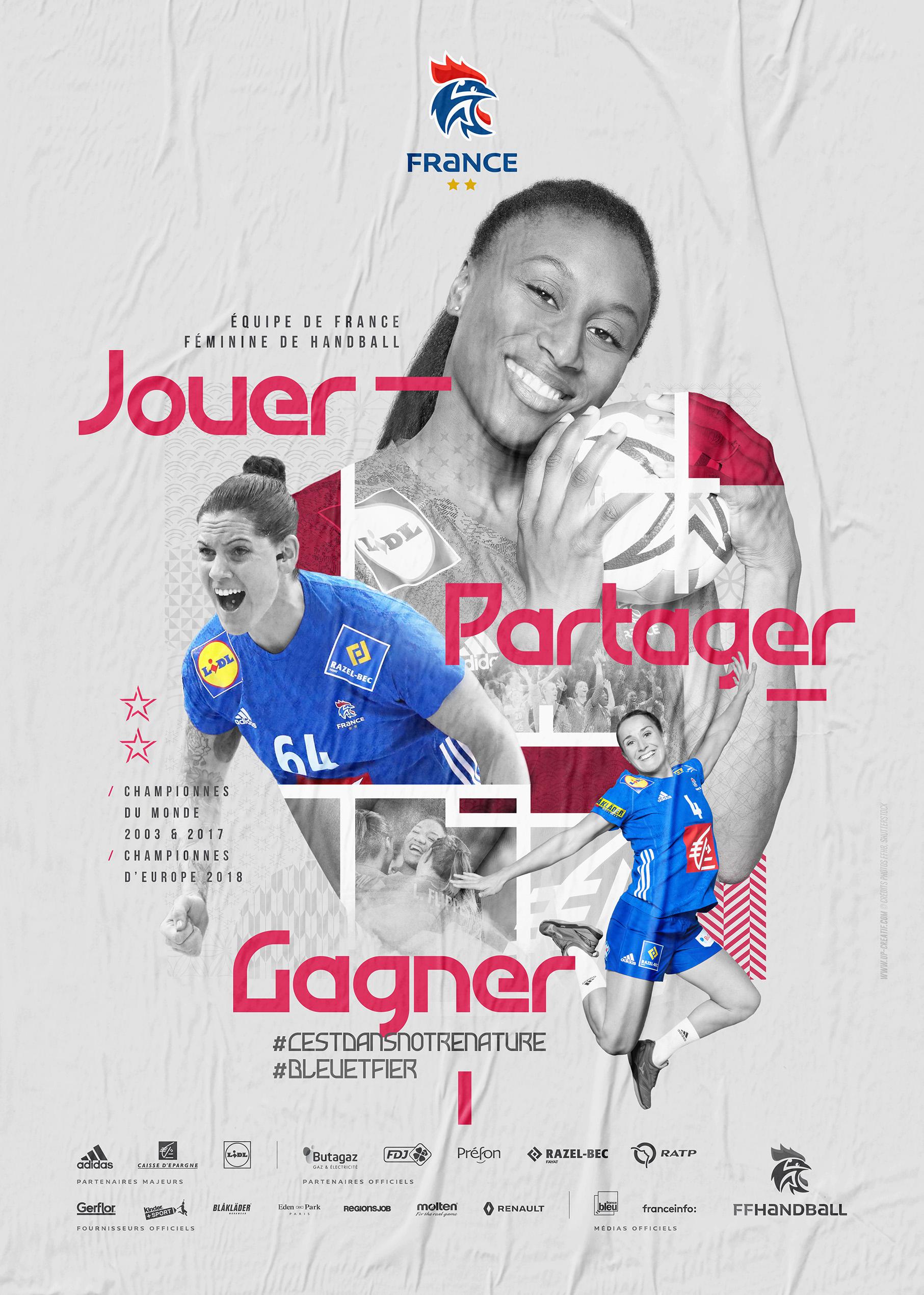 Saga Id Visuelle'19 EDF Handball n2