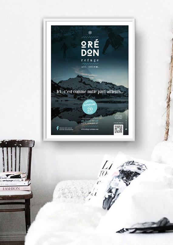 Affiche PLV refuge d'Oredon