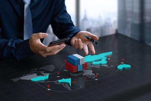 businessman-show-export-container-digita