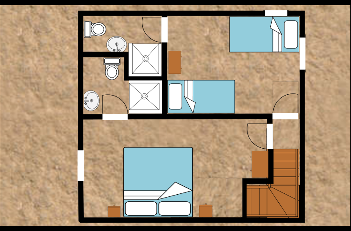 Unit 1 first floor plan