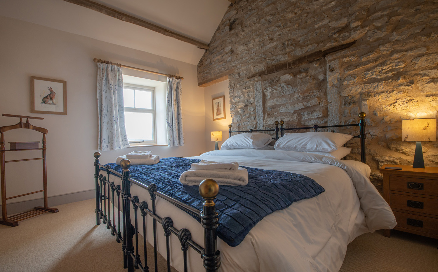 One of six double bedrooms. This can be set as a twin room of as a Super-king bed