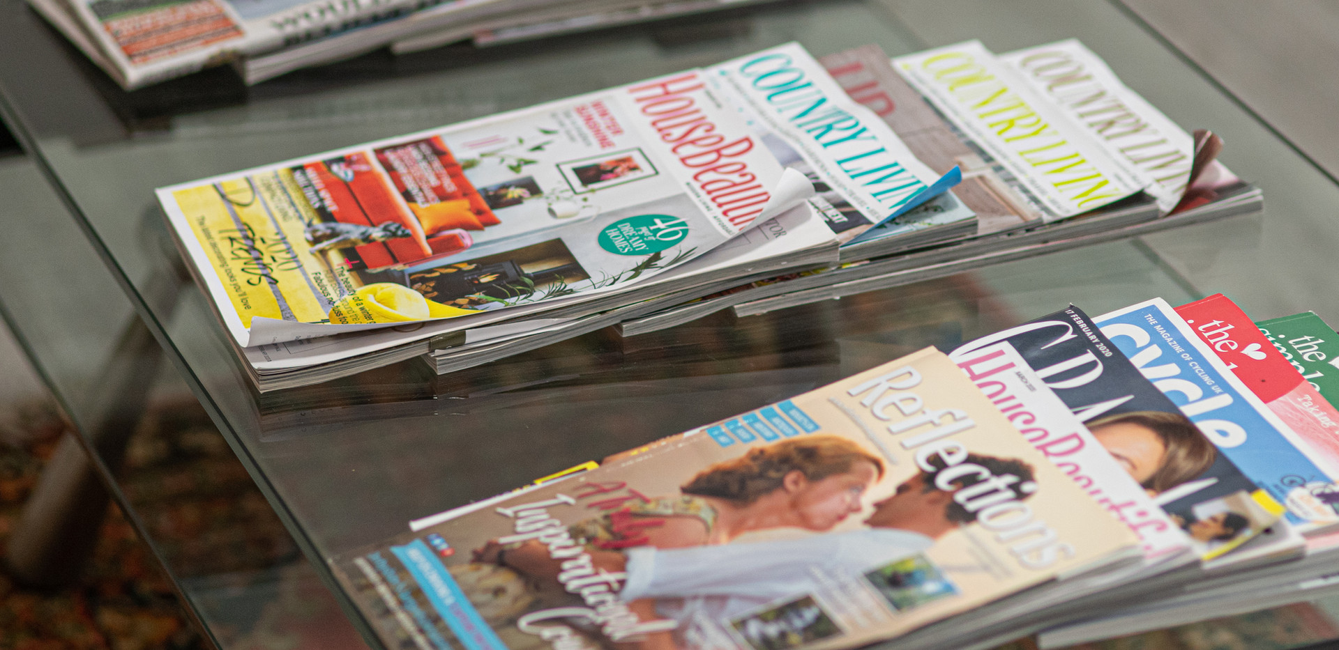 Magazines to browse.