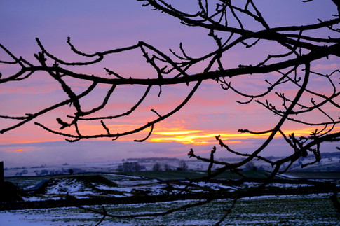 One of our many wintery sunsets