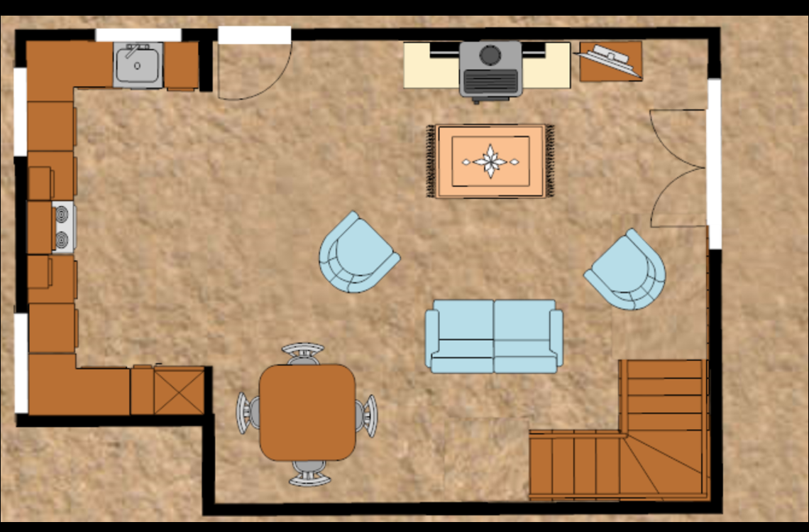 Unit 1 ground floor plan