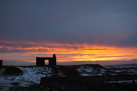 Sunset over Magpie Mine