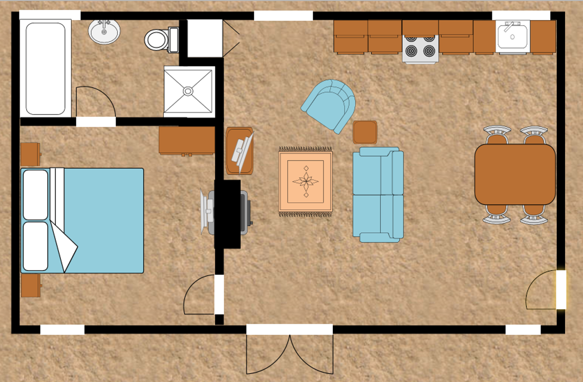 The Milking Parlour floor plan