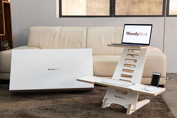 WoodyDesk Schreibtischaufsatz höhenverstellbarer Scheibtisch
