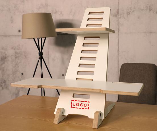 WoodyDesk Schreibtischaufsatz höhenverstellbarer Scheibtisch Individualisierung