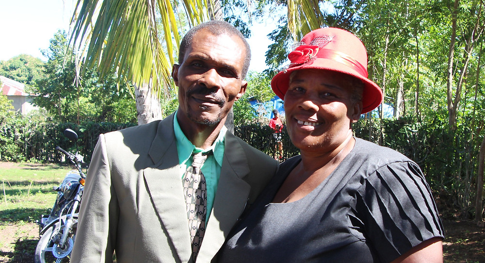 Pastor Prenel and his wife from Jeantiot