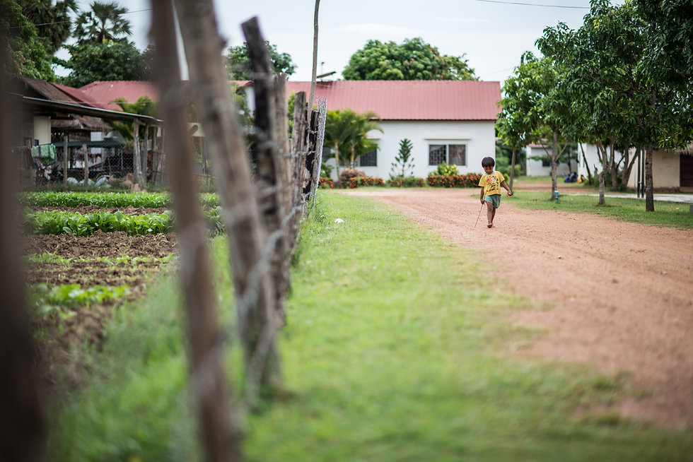 Child walking on the property at Rescue Cambodia