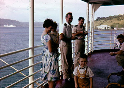 Norman and Marie Ens on the ship bound for Cambodia