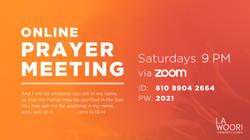 Online Prayer Meeting Sat 9pm1