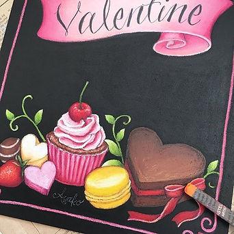 #happy #valentine #chalkart #handletteri
