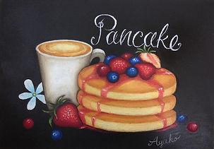 #チョークアート #chalkart パンケーキ #pancake #café