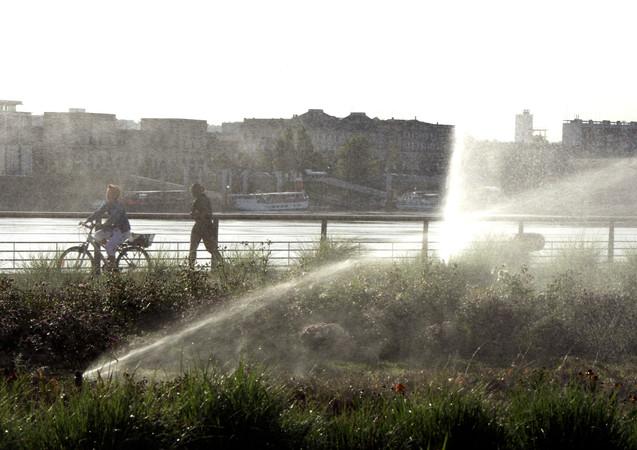 Jogging sur les quais, Bordeaux