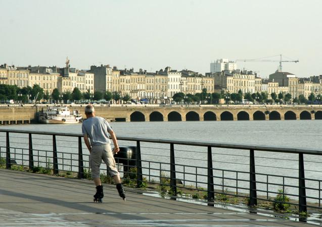 En roller sur les quais, Bordeaux