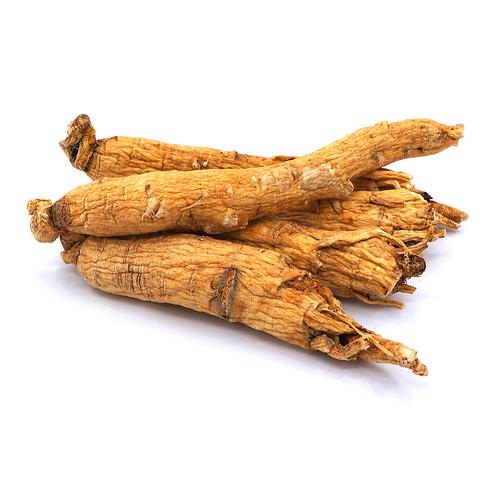 生晒参 (White ginseng main root/Panax ginseng C.A. Mey.)