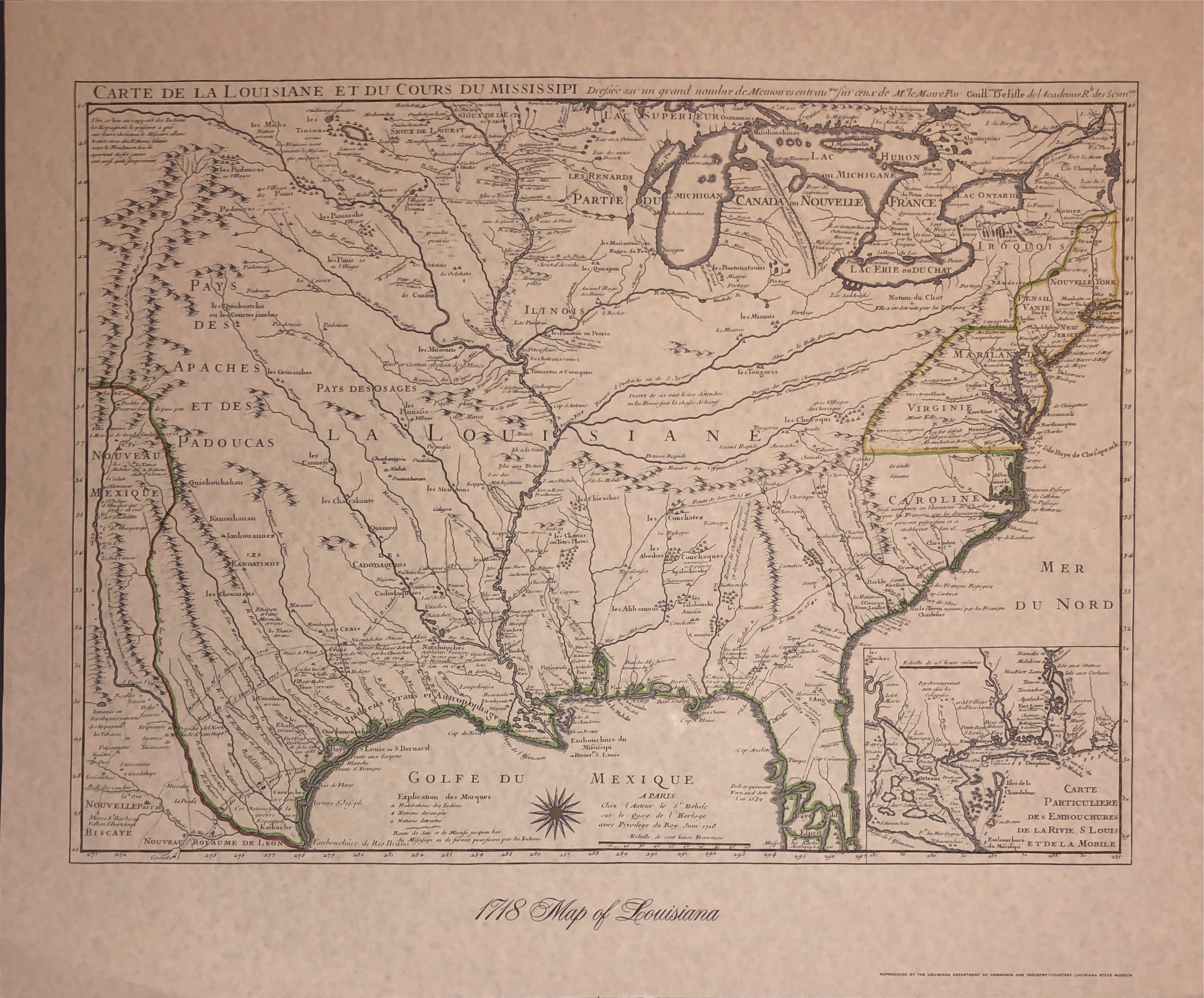 1718 Map of Louisiana-1