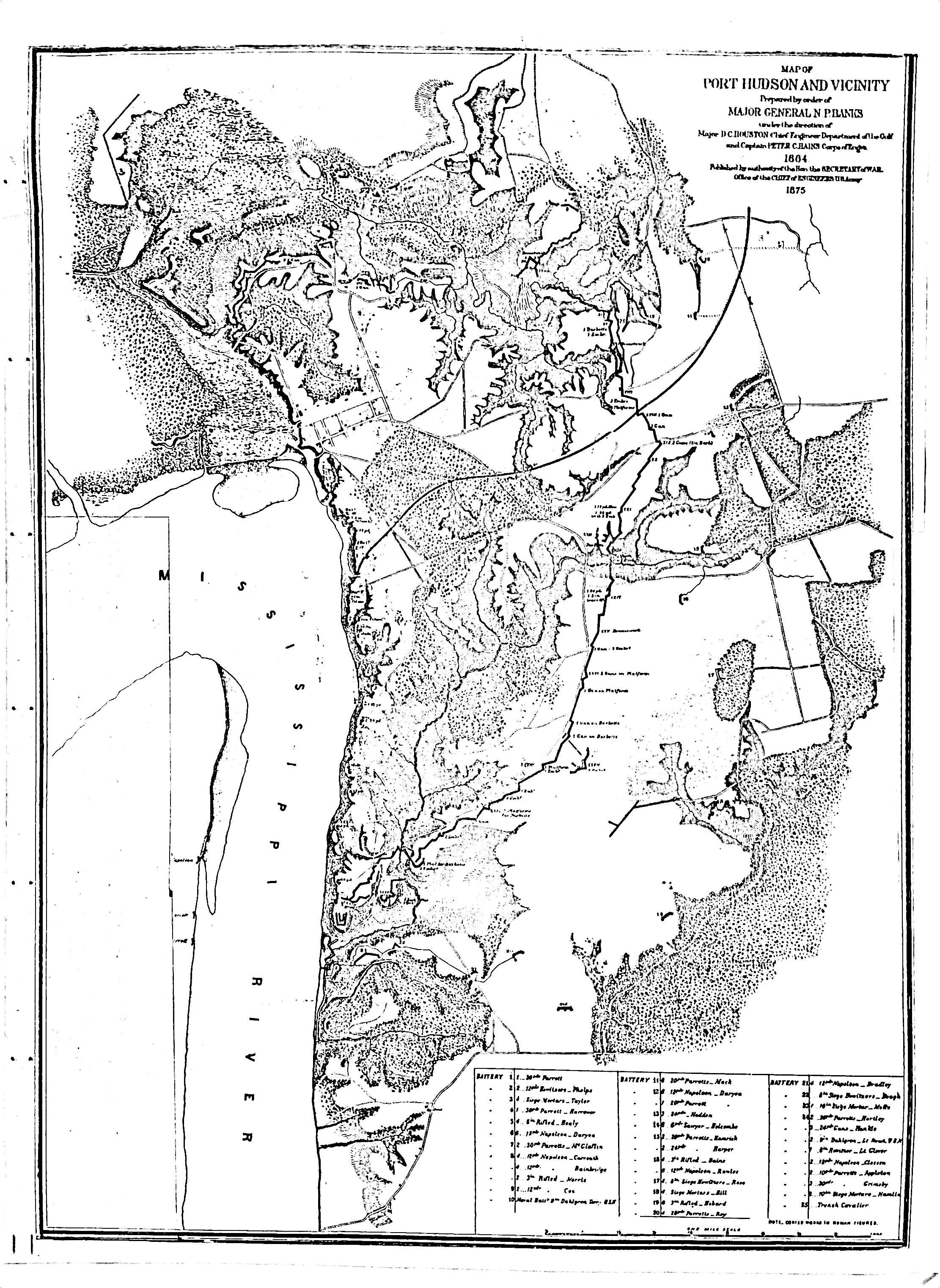 Port Hudson and Vicinity 1864-1