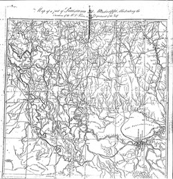 Map of Louisiana and Mississippi x 5-1