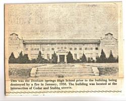 DS High school prior 1950