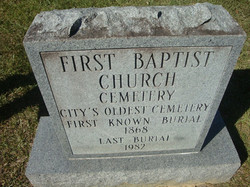 1st baptist church cemetery monument