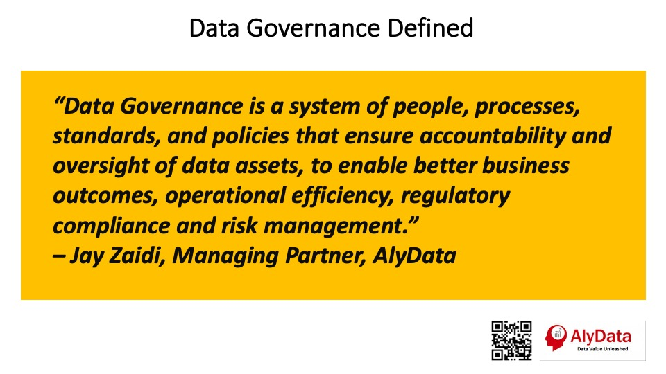 AlyData - Data Governance Defined