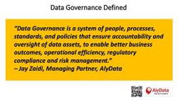 AlyData - Data Governance Defined