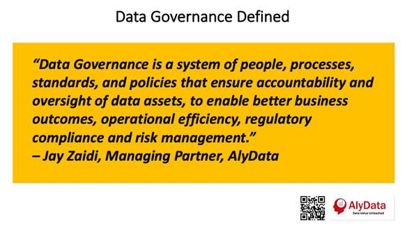 AlyData Data Governance Defined