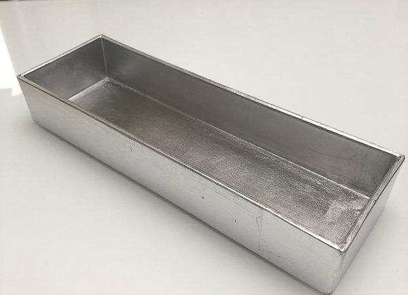 schaal rechthoek zilverkleurig