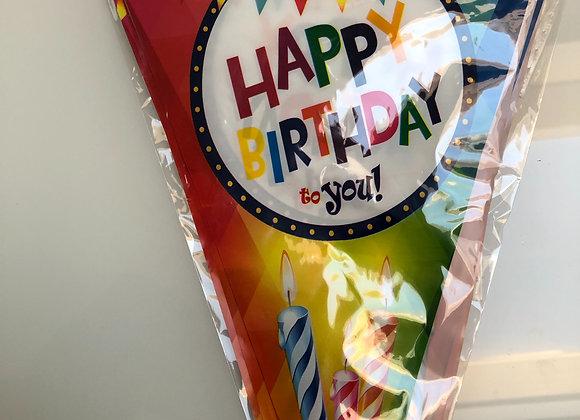 Vlaggenlijn HAPPY BIRTHDAY 5m