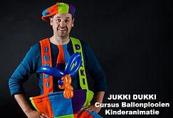 Ballonplooier, Jukki Dukki, kinderanimatie, cursus ballonplooien