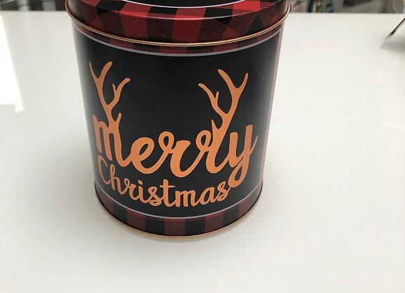 Blik met deksel Merry Christmas