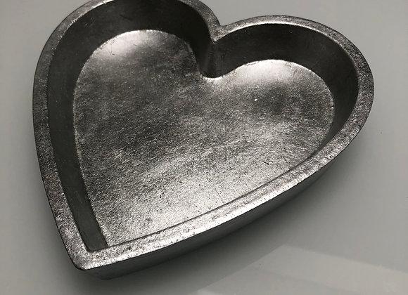 kommetje hartvorming zilverkleurig