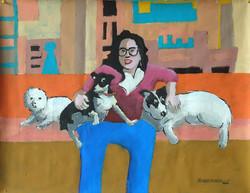 Ana con Perros
