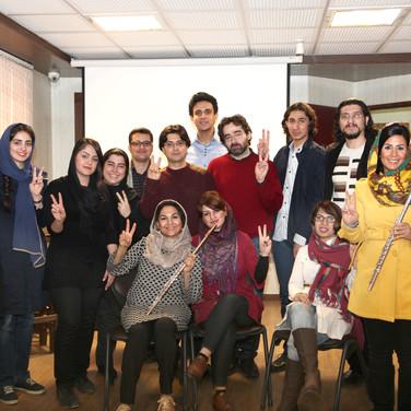 Flutemasterclass with Music-Kinesiology in Teheran