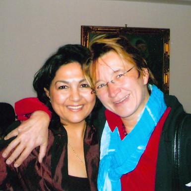 with my former teacher Barbara Gisler, 2005