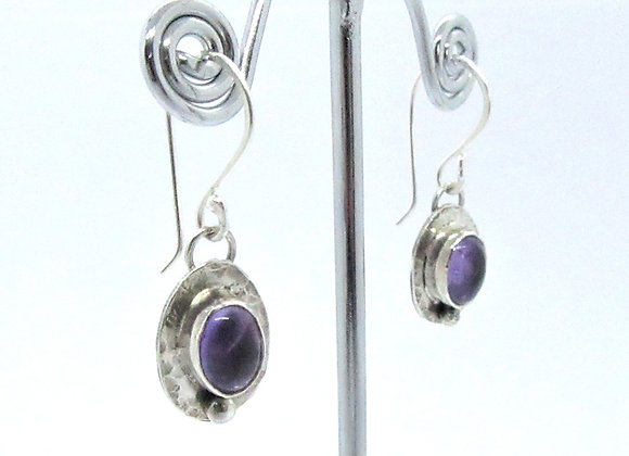 Oval Earrings - hammered