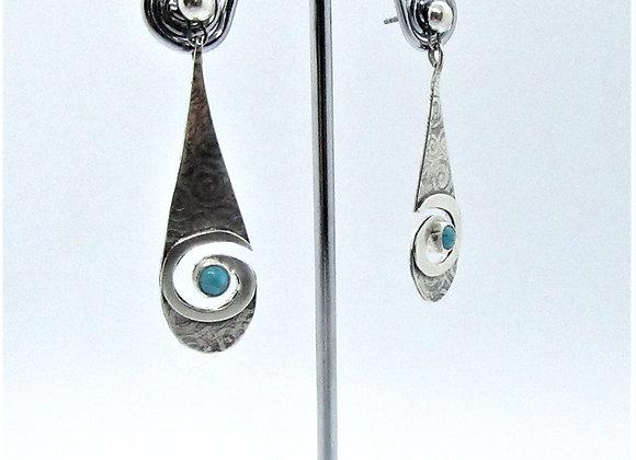 Teardrop Swirl Earring