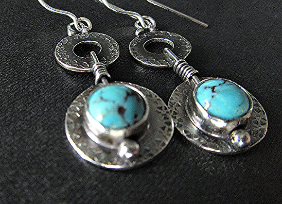 Circle Earrings - textured/double