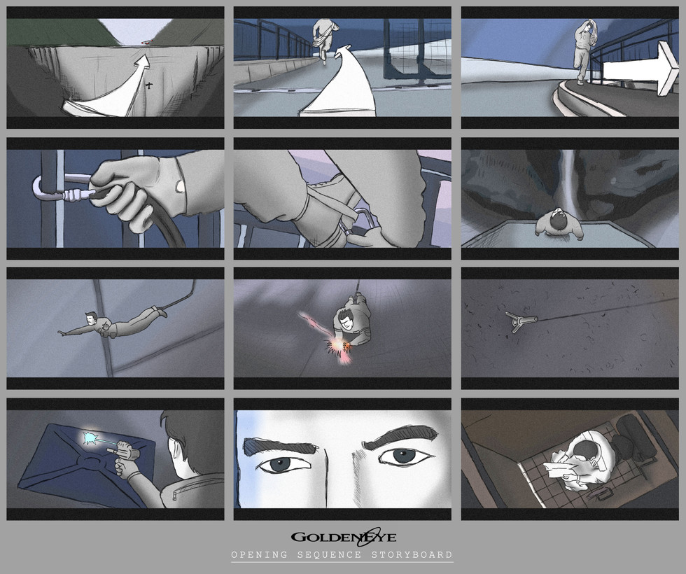 Goldeneye Opening Sequence Storyboard